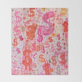 Barbie Money Throw Blanket