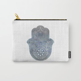 Silver Blues Hamsa Hand Carry-All Pouch