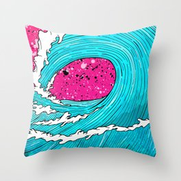 The Sea's Wave Throw Pillow