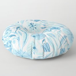 Swept Away Wildflowers Floor Pillow