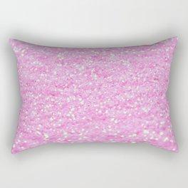 Pink Glitter Rectangular Pillow