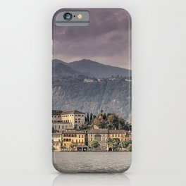 Italy Isola San Giulio Lake Island Cities Building Houses iPhone Case
