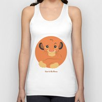 simba Tank Tops featuring Heir to the throne by eqbal