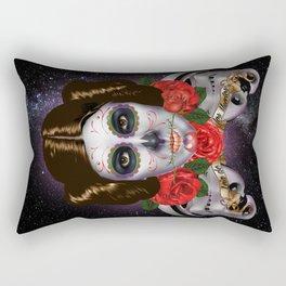 Leia de los Muertos Rectangular Pillow