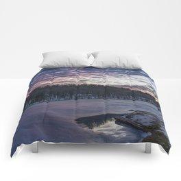 Keystone State Park - Park Bench Sunset Comforters