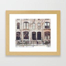 Chicago Snow Day in Neutrals Framed Art Print