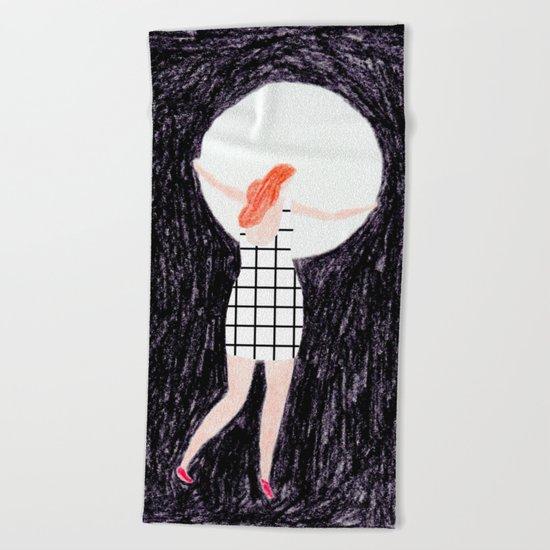 The girl who stole the moon Beach Towel