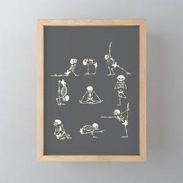 Skeleton Yoga_Gray Framed Mini Art Print