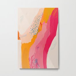 Abstract Line Shades Metal Print