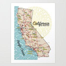 California, The Golden State Art Print