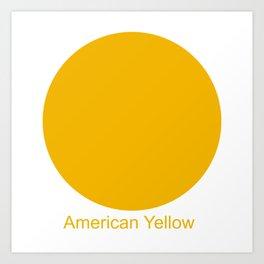 American Yellow Art Print