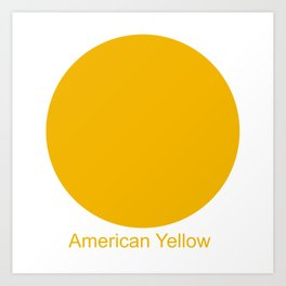 American Yellow Art Print