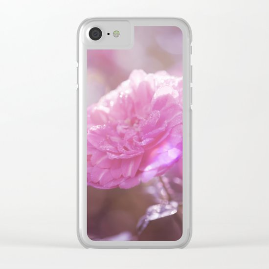 Autumn Roses at backlight  - Roses and Flowers Clear iPhone Case