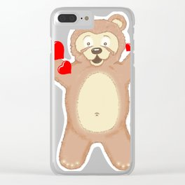 Gimme a hug please!!! Clear iPhone Case