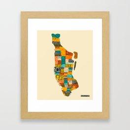MANHATTAN NEIGHBORHOODS Framed Art Print
