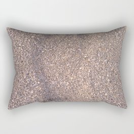 trace in the sand Rectangular Pillow