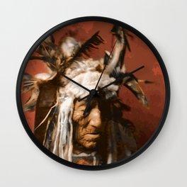 Lean Wolf - Hidatsa - American Indian Wall Clock