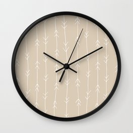 Arrow Pattern: Beige Wall Clock