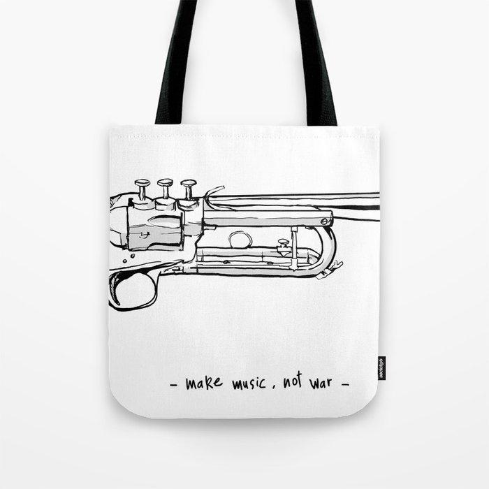 Make Music Not War Tote Bag By Abelfdez