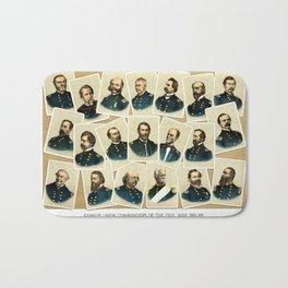 Union Commanders of The Civil War Bath Mat