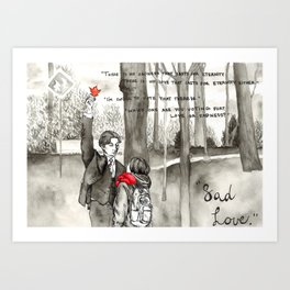 Sad Love Art Print
