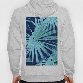 Aqua on Blue Tropical Vibes Beach Palmtree Vector Hoody