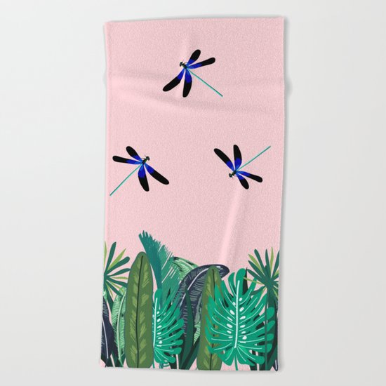 Sunny Day - Dragon-fly Beach Towel