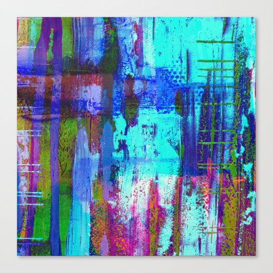 Electric Abstract - Textured, painting Canvas Print