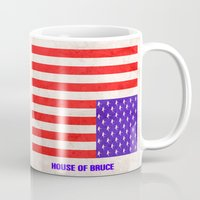 house of cards Mugs featuring HOUSE OF CARDS....HOUSE OF BRUCE!  by Rising Trout Design