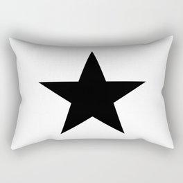 Single black star on white Rectangular Pillow