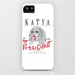 Katya Zamolodchikova For President! iPhone Case