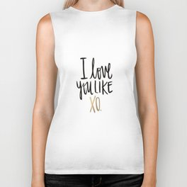 Love You Like Xo Biker Tank