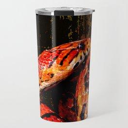 Grunge Coiled Corn Snake Travel Mug