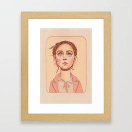 Agatha pink and orange Framed Art Print