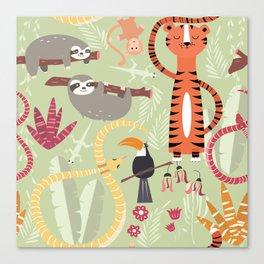 Rain forest animals 004 Canvas Print