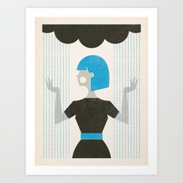 Over the Weather Art Print