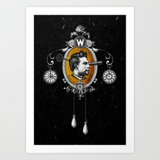 The Watchmaker (black version) Art Print