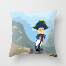 Napoleon Segways the Alps Throw Pillow