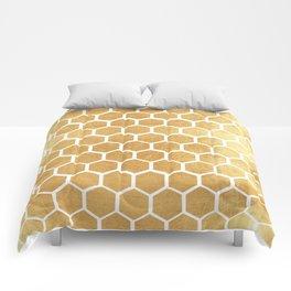 Gold honey bee Comforters