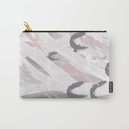 Elegant abstract background in light pastel colors. Hand drawn texture. Freehand brushstrokes Carry-All Pouch