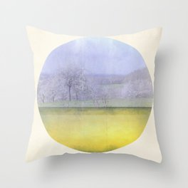 Sweet Cherry Blossom Time Throw Pillow