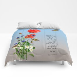 Now to Him Who Is Able to do Exceedingly Abundantly Ephesians 3  Nature Watercolour Comforters
