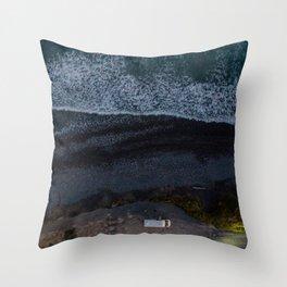 kaikoura vertical view camper coast line scenic Throw Pillow