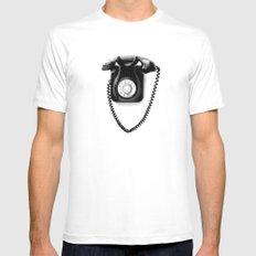 Telephone Mens Fitted Tee White MEDIUM