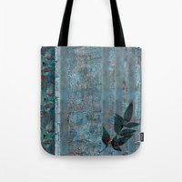 leaf Tote Bags featuring Leaf by dominiquelandau