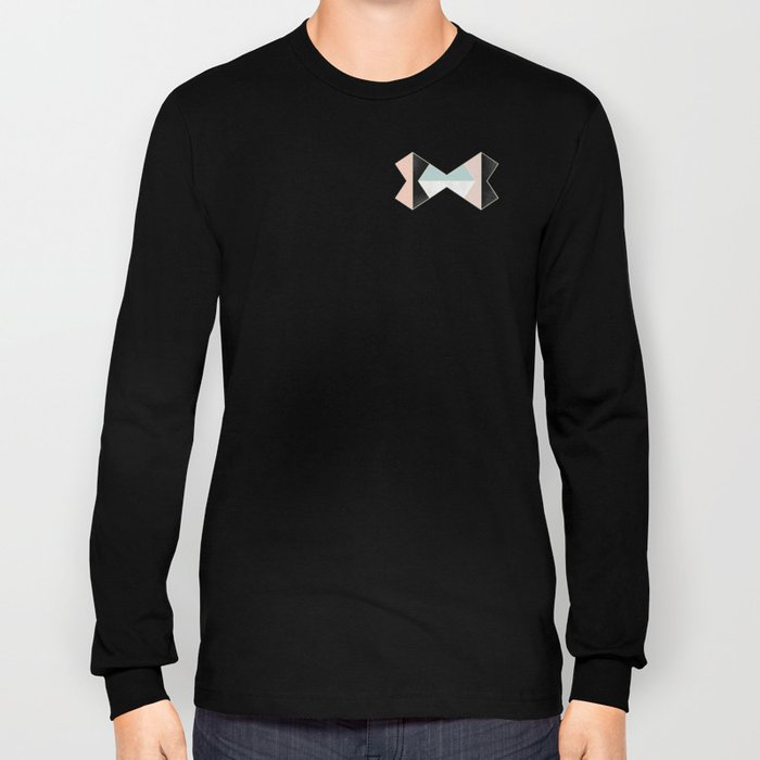 Mixed Material Tiles Long Sleeve T-shirt
