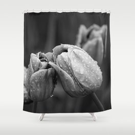 Tulips In Drops Shower Curtain