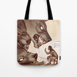 Taking the Dog for a Walk Tote Bag