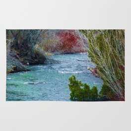 Mountian Stream (This Way to Paradise) - Jeronimo Rubio Photography 2016 Rug