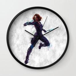 Black Widow Heroine Wall Clock